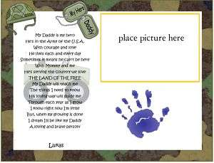 ARMY Daddy, My Hero FATHERS DAY Poem Photo Baby/Child