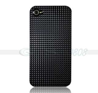 ULTRA SLIM HARD CASE COVER + Black for Apple iPhone 4 4G fast