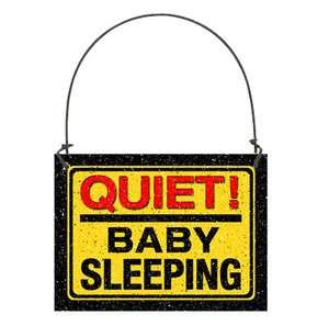 Quiet BABY Sleeping Door Hanger Small Sign Buy3FreeShip