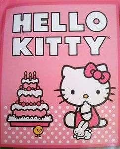 Hello Kitty Black Plush Fleece Throw Blanket   CAKE