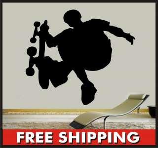 Skateboard Vinyl Wall Decal   Skater Large Mural Sticker #2