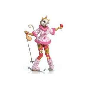 Lushus Ski Vacation Alley Cat Figurine by Margaret Le Van