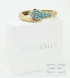 Kenneth Lane Gold Tone & Turquoise Jeweled Snake Bracelet