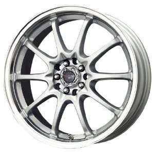 Drag D9 Silver Machined Wheel (15x6.5/4x100mm