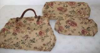 Civil War Reenactment Matching Set of Carpet Bags Luggage