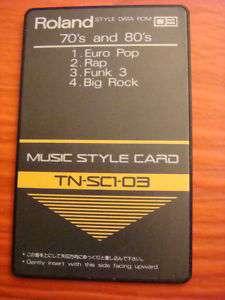 Roland memoire style card E 20 RA 30 RA50 E70 CA30 +++