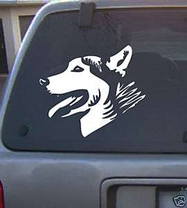 Decal Vinyl Graphic Dog Husky 4 Colors to pick