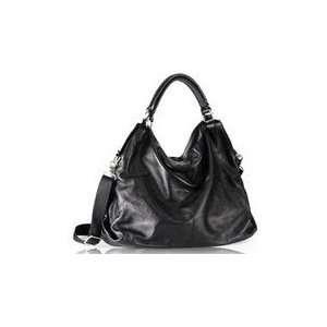 Ashley Black Italian Leather Hobo Bag Everything Else