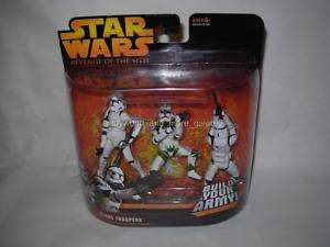 Star Wars Rots 3 Pack CLONE TROOPER GREEN Mosc