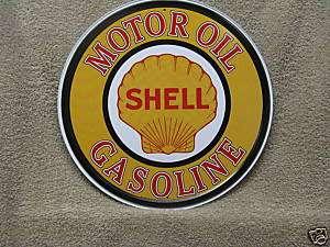Shell Motor Oil Vintage Round Tin Metal Sign