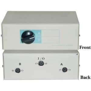 MiniDin6 (PS/2) Female, AB 2 Way Manual Switch Box: Electronics