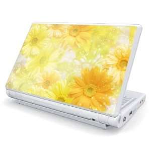 Yellow Flowers Design Skin Cover Decal Sticker for Dell Mini 10 / Mini