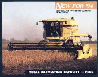 New Holland TR87 TR97 Twin Rotor Combine Brochure 1994