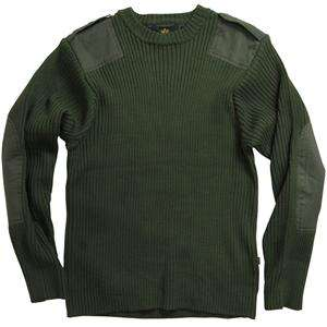 ALPHA INDUSTRIES COMMANDO SWEATER OLIVE AND BLACK ARMY