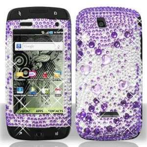 Samsung T839 Sidekick 4G Full Diamond Purple Silver Case