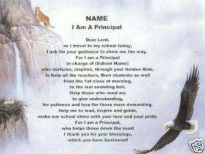 PRINCIPAL Poem Personalized Name Print School Eagle ~