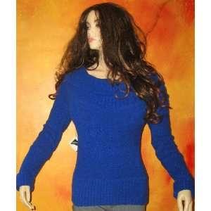 Secret Long Royal Blue Boucle Sweater Medium