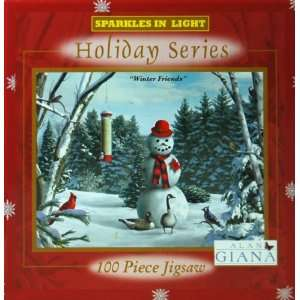 Alan Giana Holiday Series 100 Piece Jigsaw Puzzle   Winter