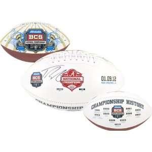 Trent Richardson Autographed Football  Details Alabama Crimson Tide