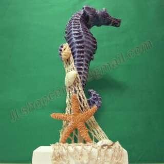 Nautical Sea Horse Fish Star Shell Decoration Statue Home Art Decor