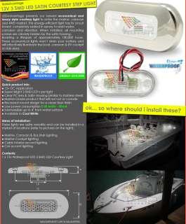 12V WATERPROOF 3 SMD LED COURTESY STEP/CAR/BOAT LIGHT