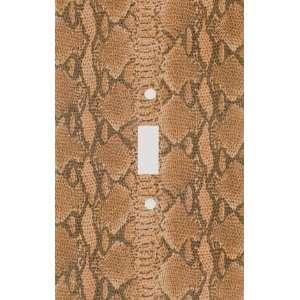 Brown Snake Skin Print Decorative Switchplate Cover
