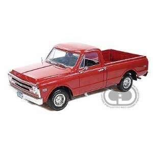 1967 Chevy Pickup Truck 1/18 Custom Metallic Red Toys & Games