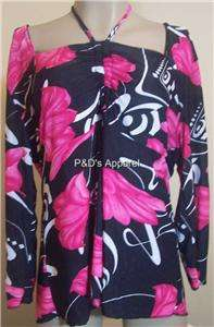 Everyday Womens Plus Size Clothing Black Pink Shirt Top Blouse XL 1X