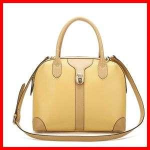 Real Genuine Leather Purse Shoulder Bag Handbag Satchel Tote Bowling