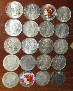 USA Full Roll 20 Morgan Peace Silver Dollar Coin Collection Scarce