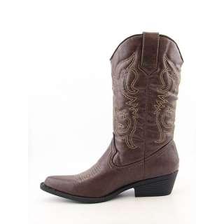 Madden Girl Sanguine Womens SZ 7 Brown Boots Cowboy Shoes 882946411153