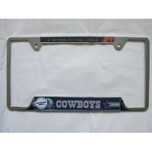 NFL   DALLAS COWBOYS CHROME LICENSE PLATE Great for Football fan Car