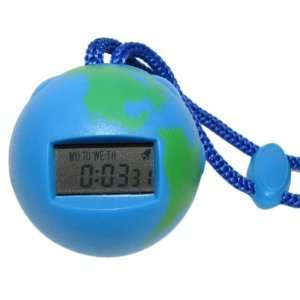 Inexpensive Globe Shaped Digital StopWatch Replaceable Button Cell
