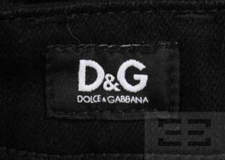 Dolce & Gabbana Black Straight Leg Jeans Size 28