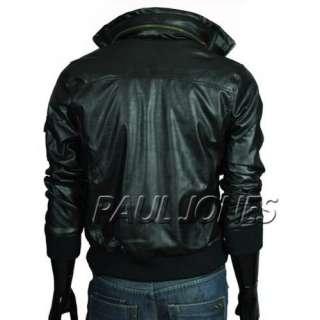 PJ Men Rider Motorcycle Leather Jacket Top slim designed Hoodie Casual