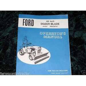 Ford 46 in. Dozer Blade OEM OEM Owners Manual Ford 46