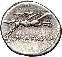 Roman Republic Circus Maximus Games Apollo & Horse 90BC Ancient Silver