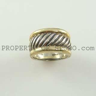 DESIGNER DAVID YURMAN   DY   925 STERLING SILVER & .585/14K GOLD RING