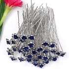 5PC AB CLEAR CRYSTAL SHELL PARTY WEDDING HAIR PIN NEW items in Foxy