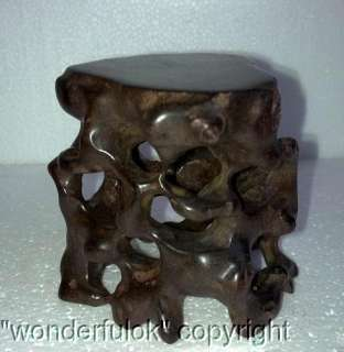 Unique Rosewood Wood Root Carving Display Shelf Stand