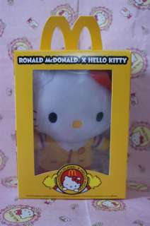 Sanrio Hello Kitty x McDonalds Ronald Mcdonald Plush Doll Stuffed