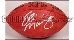 ELI MANNING NEW YORK GIANTS AUTOGRAPHED OFFICIAL NFL LEATHER GAME