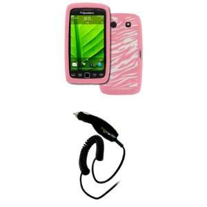 EMPIRE BlackBerry Torch 9860 9850 Pink with White Zebra