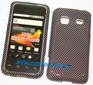 Samsung M820 Galaxy Prevail Carbon Fiber Design Hard Phone Case Cover