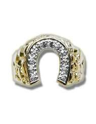 065 ct Mens Diamond Horseshoe Ring