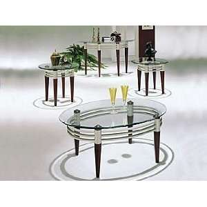 Acme Furniture Glass Top Coffee End Table 4 piece 08137