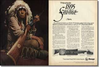 1970 American Indian. Savage Lever Action Rifle 2pg Ad