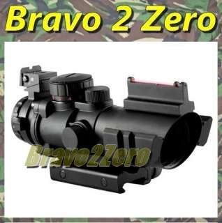 4x32 Fiber Optic + RGB Crosshair Dual Illuminated Rifle Scope