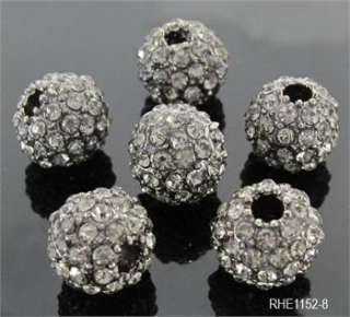 10mm DIY CZ Pave Disco Ball Crystal Rhinestone Spacer Beads