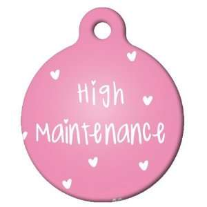 com Dog Tag Art Custom Pet ID Tag for Dogs   High Maintenance   Small